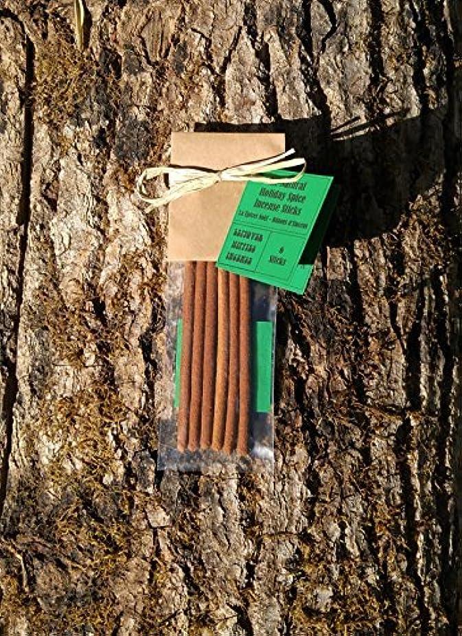 債権者従うなしでChristmas Incense - 6 Holiday Spice Incense Sticks - All Natural Hand Rolled Herbal Incense [並行輸入品]