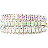 BTF-LIGHTING WS2812B RGB 144pixels/meter Flexible FPCB Individually Addressable LED Strip Dream Color IP30 Non-Waterproof DC5