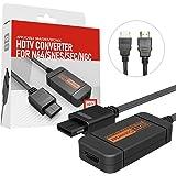 N64 to HDMIビデオコンバーター N64 / GameCube/SNES to HDMI 変換アダプター 720P出力対応 伝送損失なし HDMIケーブル付属