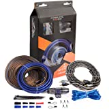 8 Gauge Complete Amp Kit True 8 AWG Amplifier Subwoofer Installation Wiring Wire Install Cables
