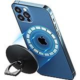 enGMOLPHY マグネット式フィンガーリングホルダー, iPhone 12/13シリーズMagSafe対応マグネットリングスタンド,180度 360度回転式 アルミ合金マグセーフ対応ホールドリングスタンド,強力磁力吸着 安定感, iPhone 1