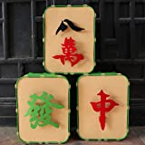 Gaudiwel 3 Pcs Chinese New Year Decorations, Mahjong Decorations Ornaments, Chinese Traditional Culture Decor, Chinese Lunar