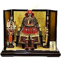 【五月人形】【平飾り】伊達政宗公 赤塗南蛮甲冑飾り