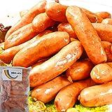 [Amazon限定ブランド] 天然 羊腸 粗挽き ソーセージ スモーク ポーク100% ウインナー ソーセージ 業務用 (500g)