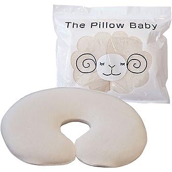 自然な寝姿勢を維持するためのベビー枕 新生児から使用可能 ザ・ピロー the pillow baby 安心のオーガニック専用カバー付き 頭の形もしっかりサポート