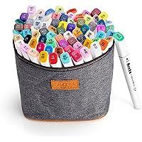 Arrtx 水彩毛筆 ペン 80色 ダブルペン先/ツイン先 塗り絵、描画、落書き用