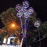 Yunt クリスマス 飾り バルーン 光る風船 LED風船 光るバルーン 光る気球 バルーン お祭りイベント パーティー ライブ ktv 風船 気球 LEDライトバー 発光ボール 透明 (10個)