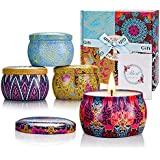 Scented Candles Set for Women Ideas, Fragrant Soy Candles with Super Cute Packaging and Pleasant Smell for Stress Relief and