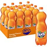 Fanta Orange Soft Drink, 12 x 1.25 L