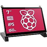 EVICIV ディスプレイ 7インチ Raspberry Pi用 モニター IPSモニター 液晶小型ディスプレイ 全視野178° 内蔵スピーカ HDMI ラズベリーパイ1/2/3 ModelB/A+/B+/BB/Black Banana Pi/Win