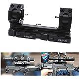 25mm/30mm 径 QD ワンピース スコープ エクステンデッド マルチリングマウント ブラック