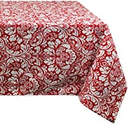 DII 100% Cotton, Machine Washable, Everyday Damask Kitchen Tablecloth for Dinner Parties, Summer & Outdoor
