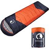 CANWAY (キャンウェイ) 寝袋 圧縮袋付き 軽量 防水 暖かい&涼しい天候向け 4シーズン快適 キャンプ/旅行/ハイキング/バックパック旅行 大人&子供用