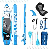 Bluefin SUP Stand Up Inflatable Paddle Board with Kayak Conversion Kit | Ultimate iSUP Kayak Bundle | Available in Various Si