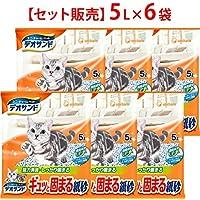 【ケース販売】デオサンド ギュッと固まる紙砂 5L×6袋