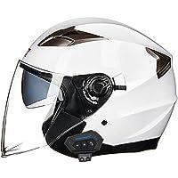 バイクヘルメット ジェットヘルメット 原付 半帽ヘルメット メンズ レディース ダブルシールド オートバイ モトクロス…