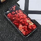 Dagly(TM) iPhone 6 6S iPhone 7プラスケースガール女性アクセサリーについてはiPhone 6 6SプラスiPhoneケース7 Phoneのカバーにグリッター流砂ケース[iphone 6 6Sのためにレッドプラス]