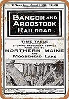 1952バンゴーとAroostook鉄道北部メインコレクタブルウォールアート