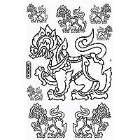 シンハービール 『SINGHA BEER』 ステッカー (ホワイト白 White) Lサイズ [タイ雑貨 Thailand Sticker]