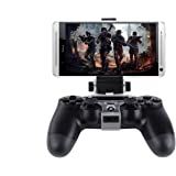 SUNKY PS4 Slim Pro Controller Android Phone Clip, 180 Degree Gaming Holder Mount Stand Bracket for Playstation 4 Slim Pro Dua