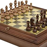 The Elite Chessmen From the Orient & Bellagio Chess Board Cabinet From Italy by