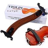 バイオリン肩当て ソリッドウッド ショルダーレスト バイオリンパーツ 極上のフィット感 S字型 高さ調整可能 楽器 パーツ アクセサリー 3/4 4/4サイズ 高級な模造のカエデ材