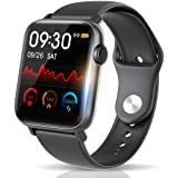 【最新Bluetooth5.0 IP68完全防水】 スマートウォッチ 活動量計 心拍計 歩数計 明度調整&天気予報 誕生日/父 母 ギフト 1.54インチ大画面 smart watch 消費カロリー 睡眠検測 超長い待機時間 着信電話通知/SMS/T