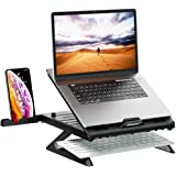OImaster Laptop Stand Adjustable Computer Stand Patented,Multi-Angle Stand Portable Foldable Laptop Riser Phone Stand Noteboo
