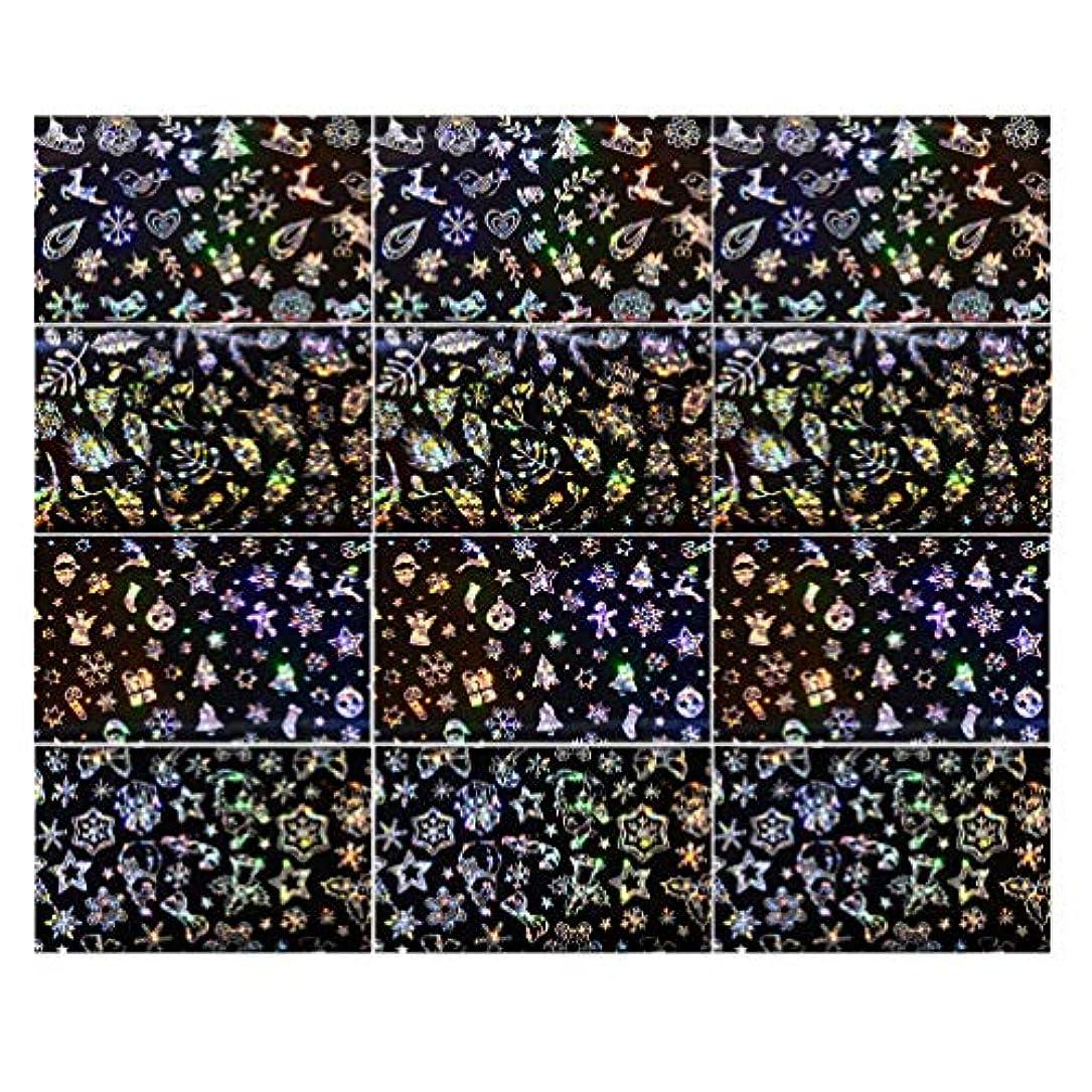 贅沢規定ごめんなさいLurrose 3セットクリスマスネイルステッカースノーフレークネイルタトゥーdiyネイルアート用女性マダムガールレディ