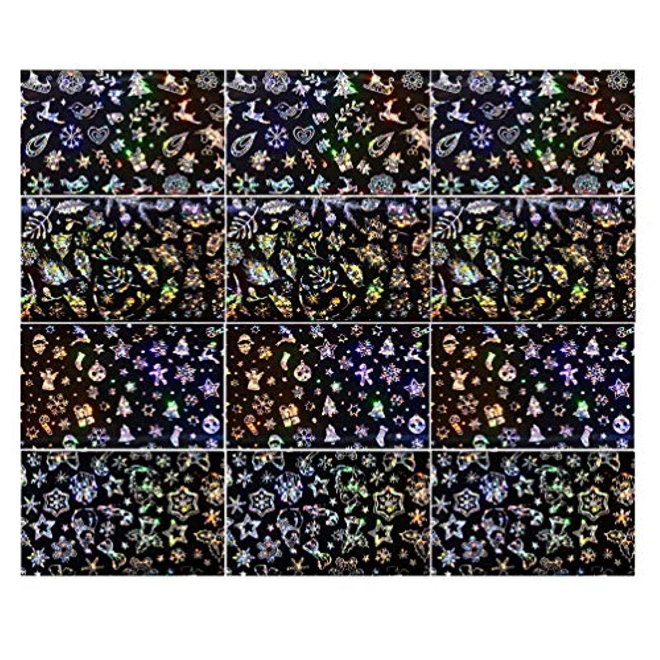 巡礼者送料防水Lurrose 3セットクリスマスネイルステッカースノーフレークネイルタトゥーdiyネイルアート用女性マダムガールレディ