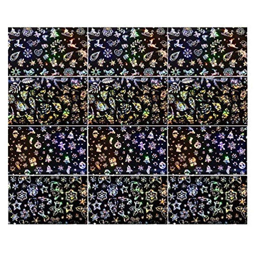 腰思春期衝突するLurrose 3セットクリスマスネイルステッカースノーフレークネイルタトゥーdiyネイルアート用女性マダムガールレディ