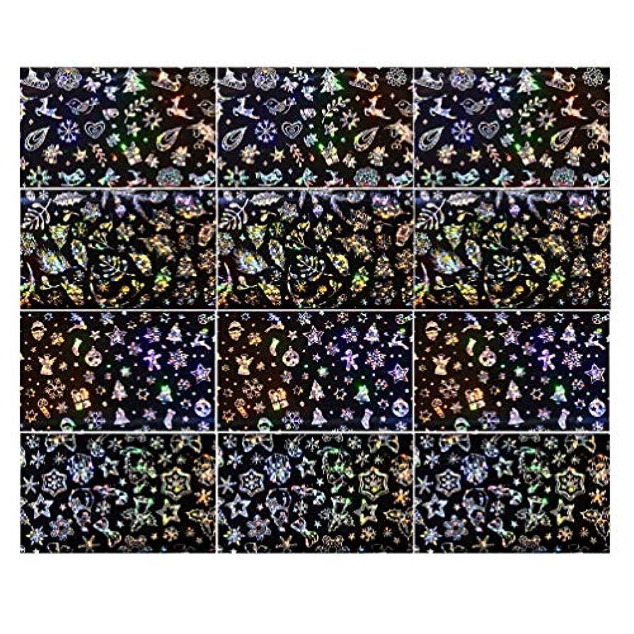カメラ秋緊張Lurrose 3セットクリスマスネイルステッカースノーフレークネイルタトゥーdiyネイルアート用女性マダムガールレディ