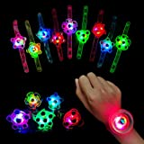 Awolf Light Up Bracelet Glow in The Dark Party Favors for Kids 20pcs Wristband LED