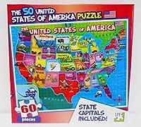 LPF 60Piece Puzzle–United States of America ( USA )マップwith状態Capitals