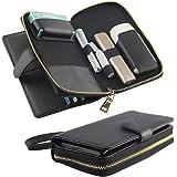 アイコス3 アイコス3マルチ ケース 両方入る 新型 IQOS3 IQOS3MULTI 専用ケース カード入れ 財布 携帯ケース 全部収納 ホルダー IQOS3&IQOS3MULTI 兼用 多機能ケース (ブラック)