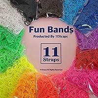 【14袋セット!】Fun Bands LOOM BANDS ルームバンド ゴム アクセサリー 11Straps オリジナルセット 14種類×600個=8400個 ファンルーム レインボールームにも