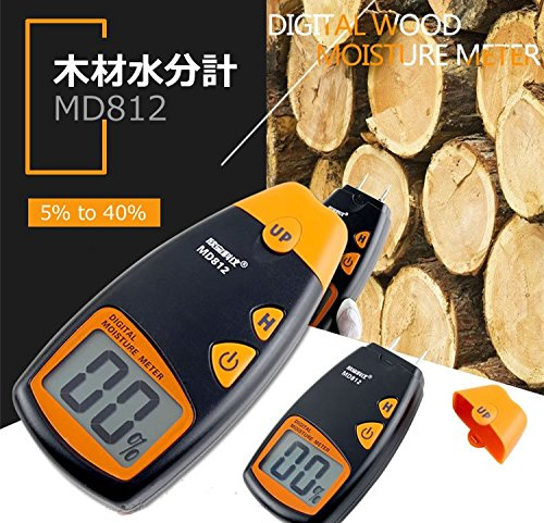 MIFO デジタル木材水分計 簡単測定 ホールド機能 ケース付 樹種にあわせたモード選択 HR-MD812