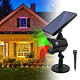 Star Shower Laser Lights - New 2017 Solar Christmas Lights Red Green Dancing Lights Waterproof Outdoor Laser Lights Projector with for Holiday Party Wedding Disco [並行輸入品]