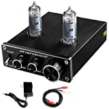 FX AUDIO Vacuum Tube Preamp—Mini Electronic Hi-Fi Stereo 6K4 Tube Preamplifier with Bass & Treble Control for Home Audio Play