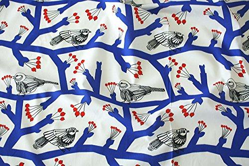 【正規輸入品】マリメッコ(marimekko) 生地(布)54785-153 PIKKUPAKKANEN(ピックパッカネン・小鳥柄) 生地巾145cmX100cm単位 生地カット販売 ファブリック