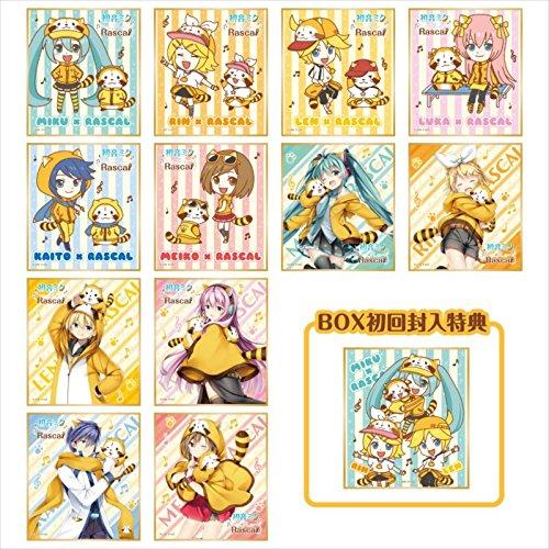 初音ミク × ラスカル 2018 ミニ色紙コレクション BOX商品 1BOX=12個入り、全12種類
