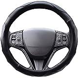 【Amazon限定ブランド】 ZATOOTO ハンドルカバー 軽自動車 sサイズ ステアリングカバー 3Dグリップ滑り止め 手触りよし アクセサリー 普通車 レザー ブラック LY06-BB