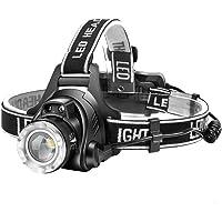 【進化版】Helius LEDヘッドライト USB 充電式 電気出力 高輝度CREE L2 LED 明るい1600ルーメン ズーム 3モード Led ライト ヘッドランプ 人感センサー機能付き 電量ディスプレイ可能 軽量 防水 防災 登山 釣り用 ランニング 作業用 ヘルメット ライト へっとライト (PSE認証 18650リチウムイオン蓄電池 2本付属)