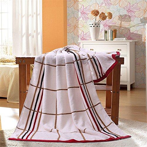 Mooxury バスタオル 140×70cm 速乾 綿100% ジャガード織 2枚セット