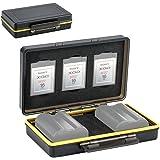 XQD Card Holder & Camera Battery Case for 3 XQD Cards + 2 Camera Batteries ≤59x39x20mm fits Nikon EN-EL15 EN-EL15a EN-EL15b o