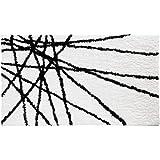 (Black/White) - InterDesign Abstract Bath Rug