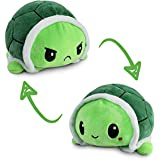 TeeTurtle   The Original Reversible Turtle Plushie   Patented Design   Sensory Fidget Toy for Stress Relief   Green   Happy +