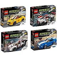 LEGO New for 2016 Speed Champions 4 Set Bundle - Chevrolet Corvette Z06 75870, Ford Mustang GT 75871, Audi R18 e-tron Quattro 75872 & Audi R8 LMS Ultra 75873 [並行輸入品]