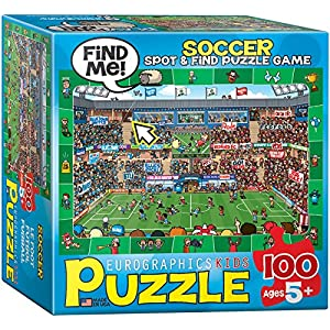 Eurographics Soccerスポット& Find小さなボックスパズル( 100Pieces )