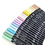 トンボ鉛筆 AB-T デュアルブラシ 薄い色 24本セット